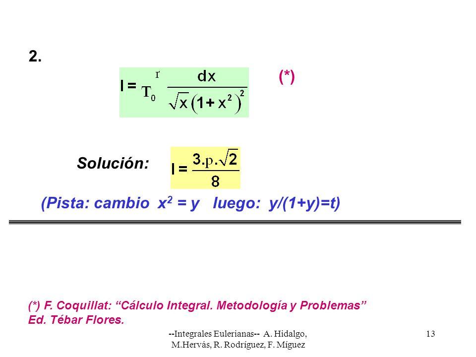 (Pista: cambio x2 = y luego: y/(1+y)=t)