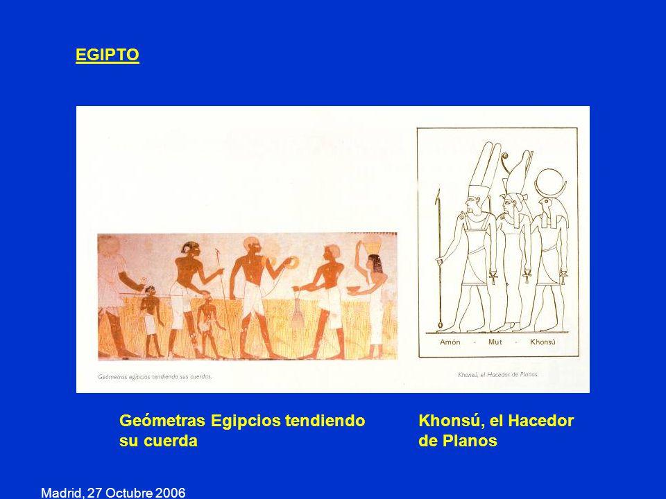 Geómetras Egipcios tendiendo su cuerda Khonsú, el Hacedor de Planos