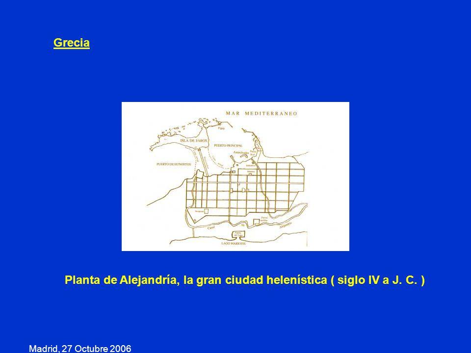 Planta de Alejandría, la gran ciudad helenística ( siglo IV a J. C. )