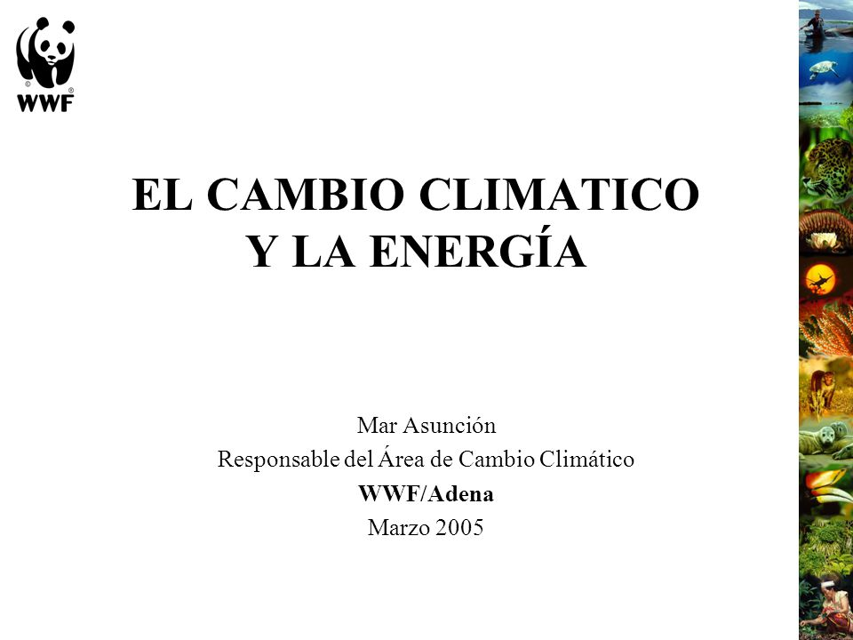 EL CAMBIO CLIMATICO Y LA ENERGÍA