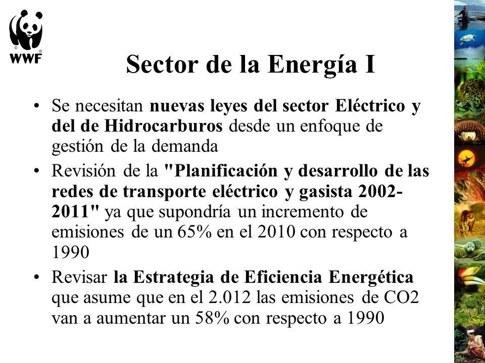 Sector de la Energía I Se necesitan nuevas leyes del sector Eléctrico y del de Hidrocarburos desde un enfoque de gestión de la demanda.