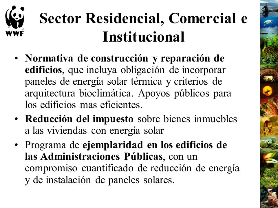 Sector Residencial, Comercial e Institucional
