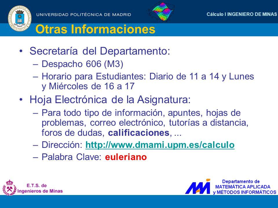 Otras Informaciones Secretaría del Departamento: