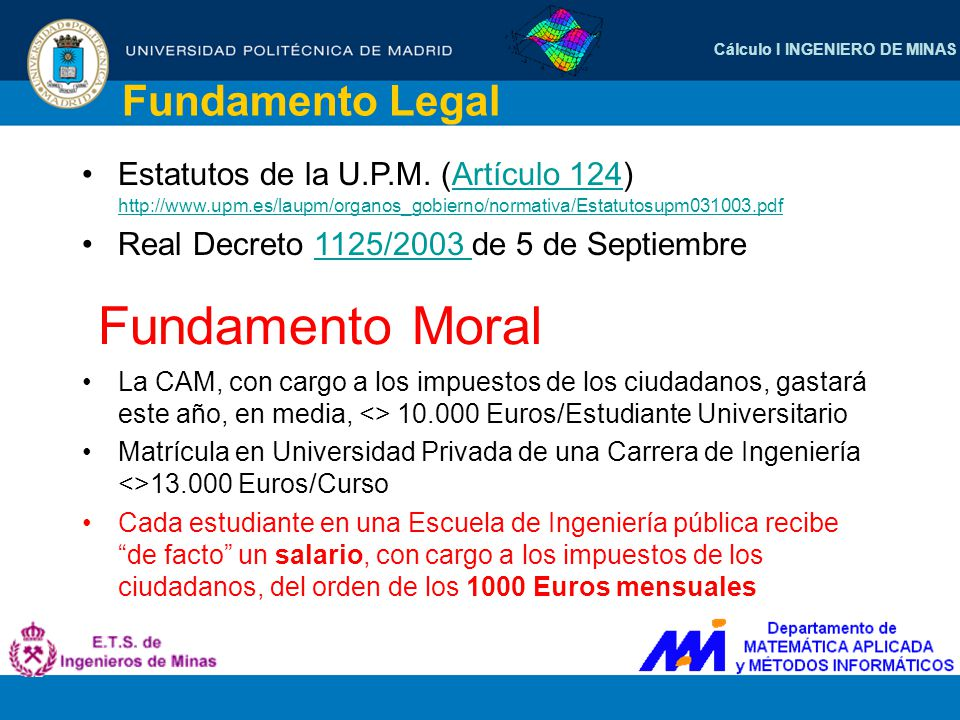 Fundamento Moral Fundamento Legal