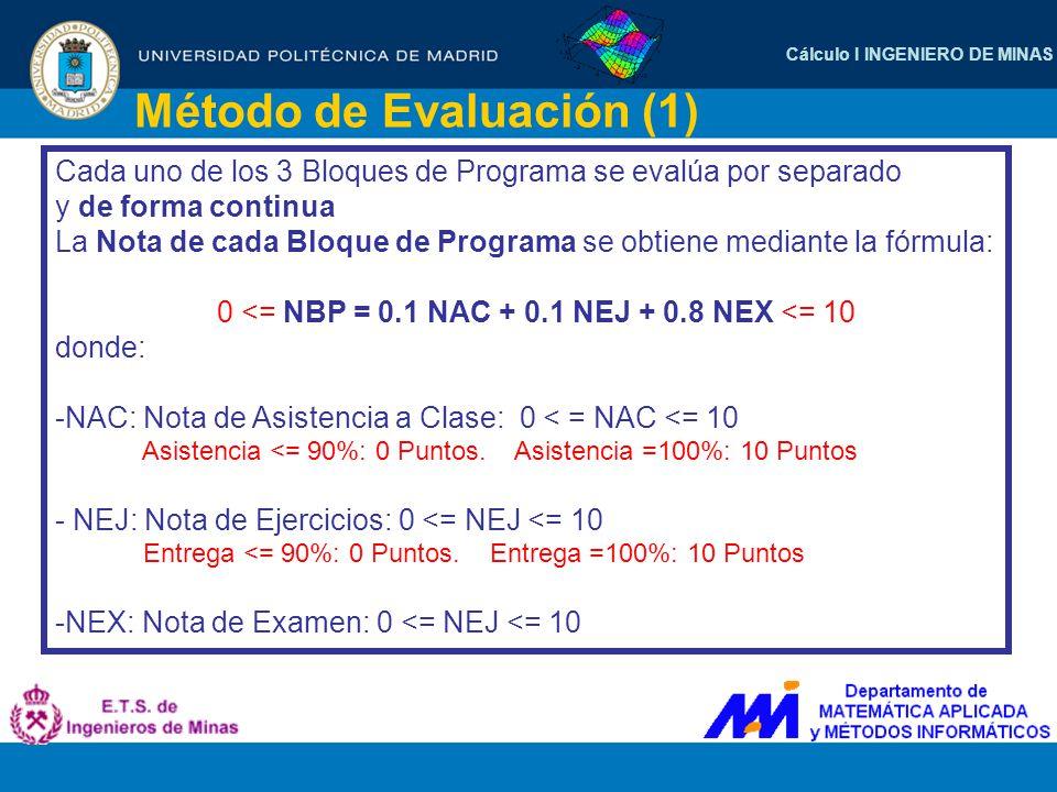 Método de Evaluación (1)