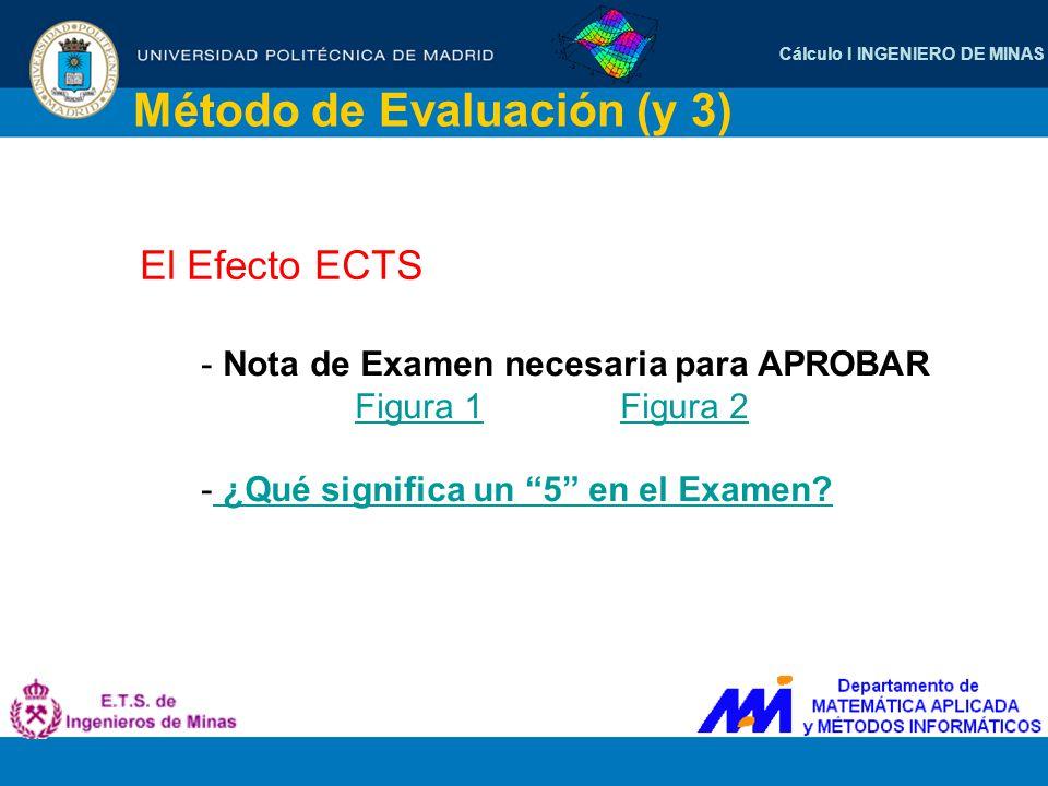 Método de Evaluación (y 3)