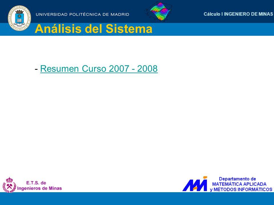 Análisis del Sistema - Resumen Curso 2007 - 2008