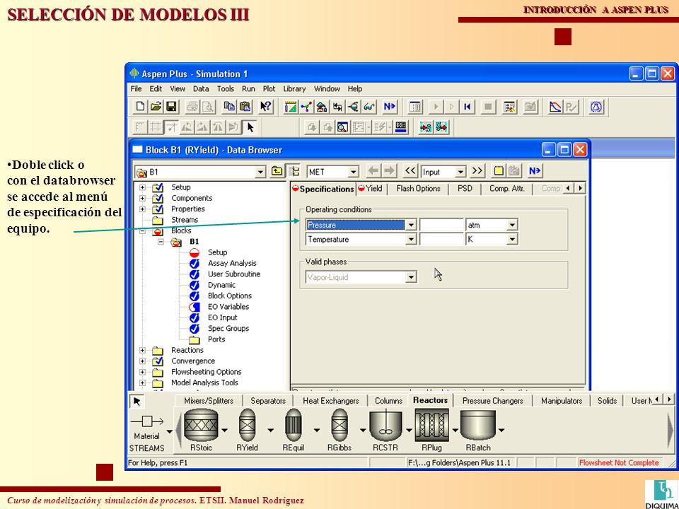 SELECCIÓN DE MODELOS III
