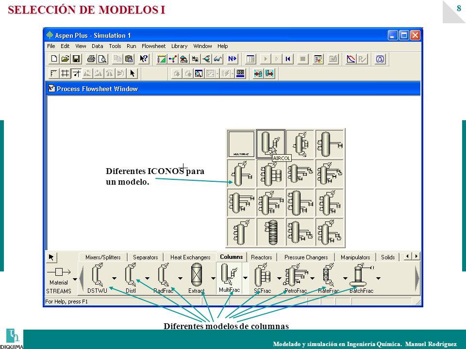 SELECCIÓN DE MODELOS I Diferentes ICONOS para un modelo.