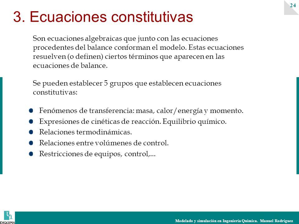 3. Ecuaciones constitutivas