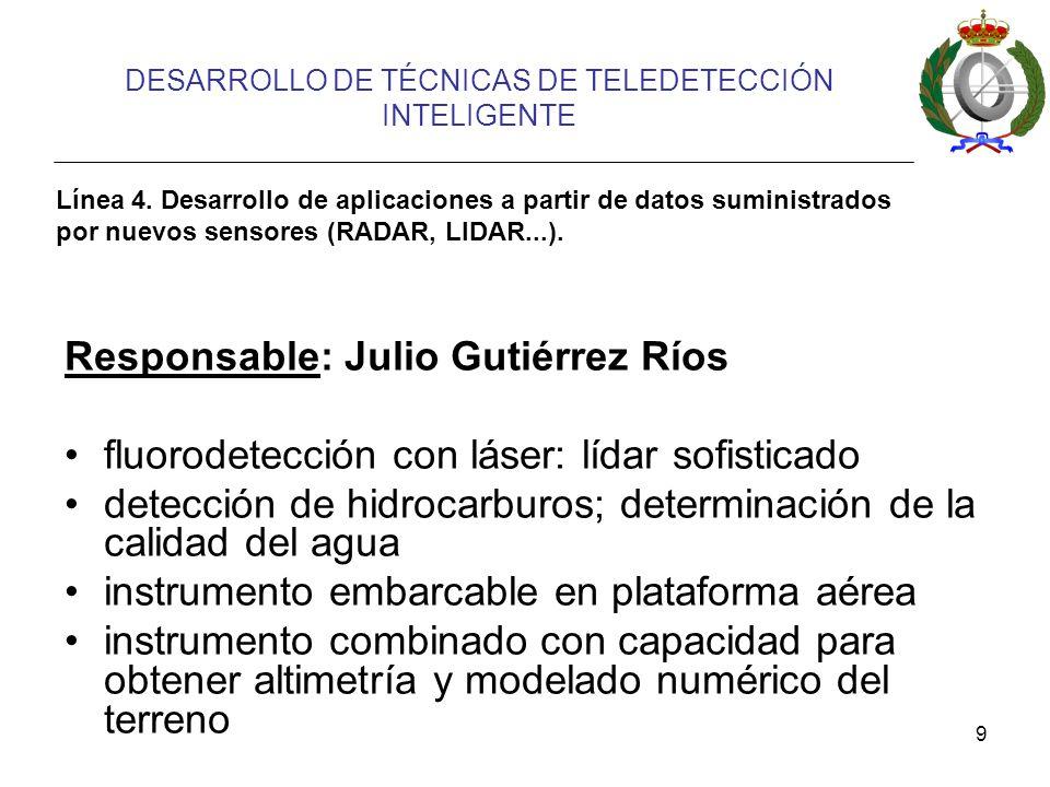 DESARROLLO DE TÉCNICAS DE TELEDETECCIÓN INTELIGENTE