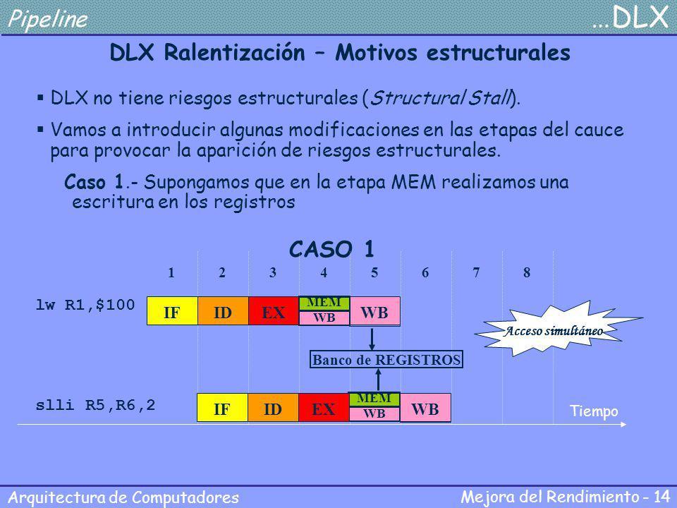 DLX Ralentización – Motivos estructurales
