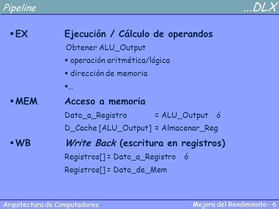 EX Ejecución / Cálculo de operandos