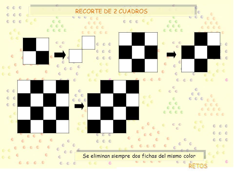 Se eliminan siempre dos fichas del mismo color