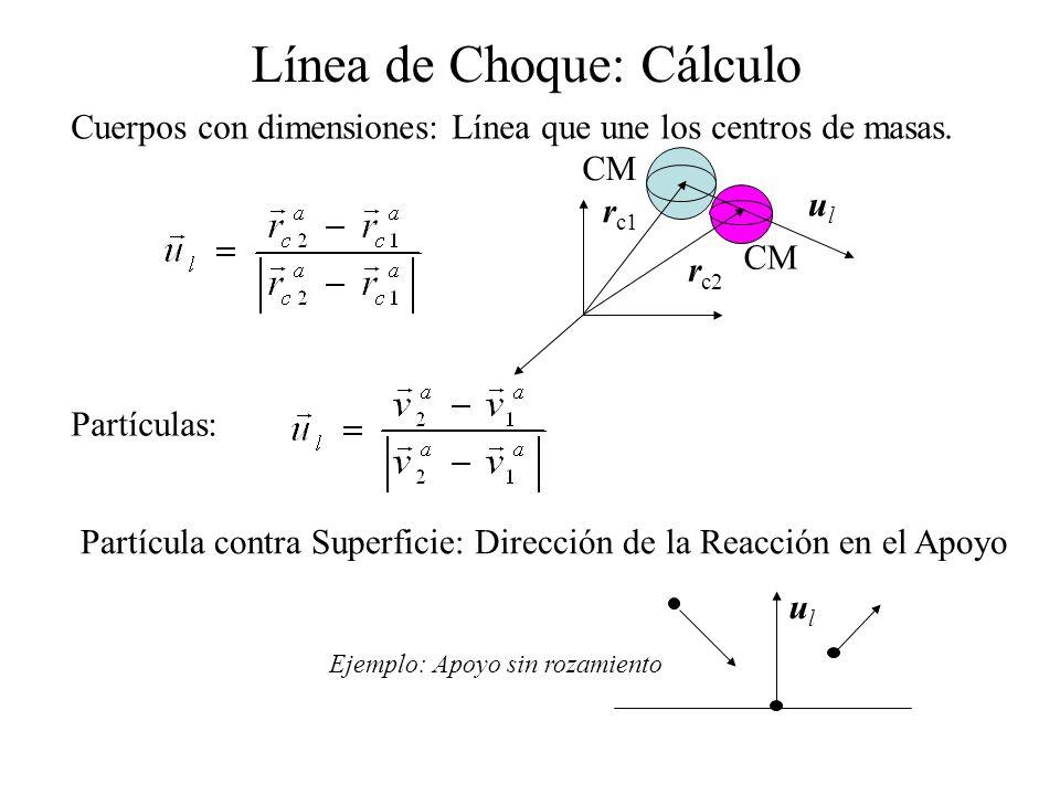 Línea de Choque: Cálculo