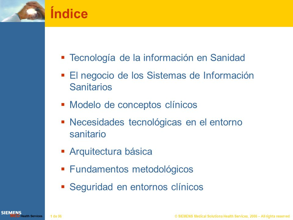 Tecnología de la información en la Sanidad