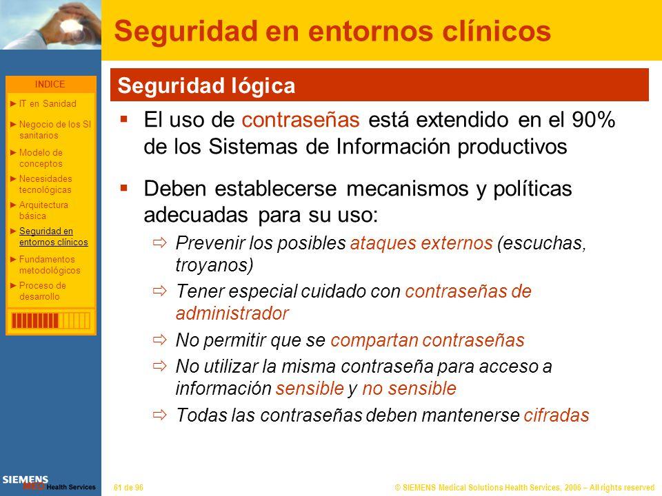 Seguridad en entornos clínicos