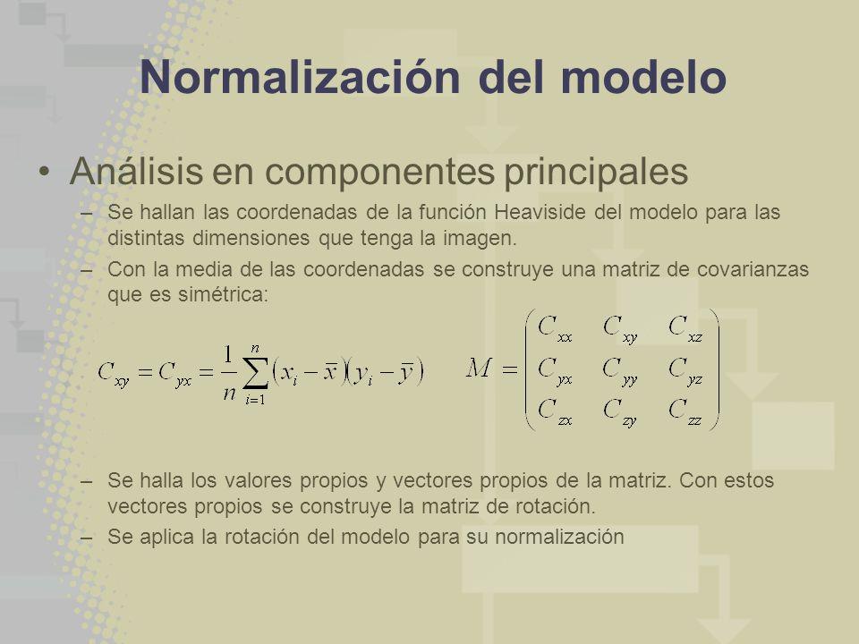 Normalización del modelo