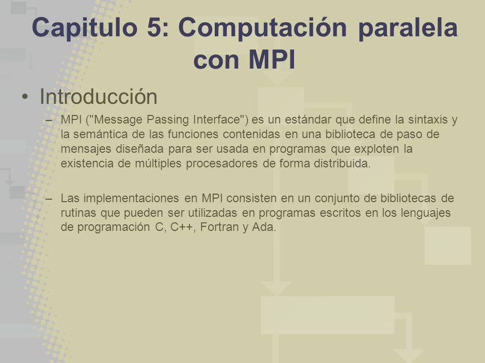 Capitulo 5: Computación paralela con MPI