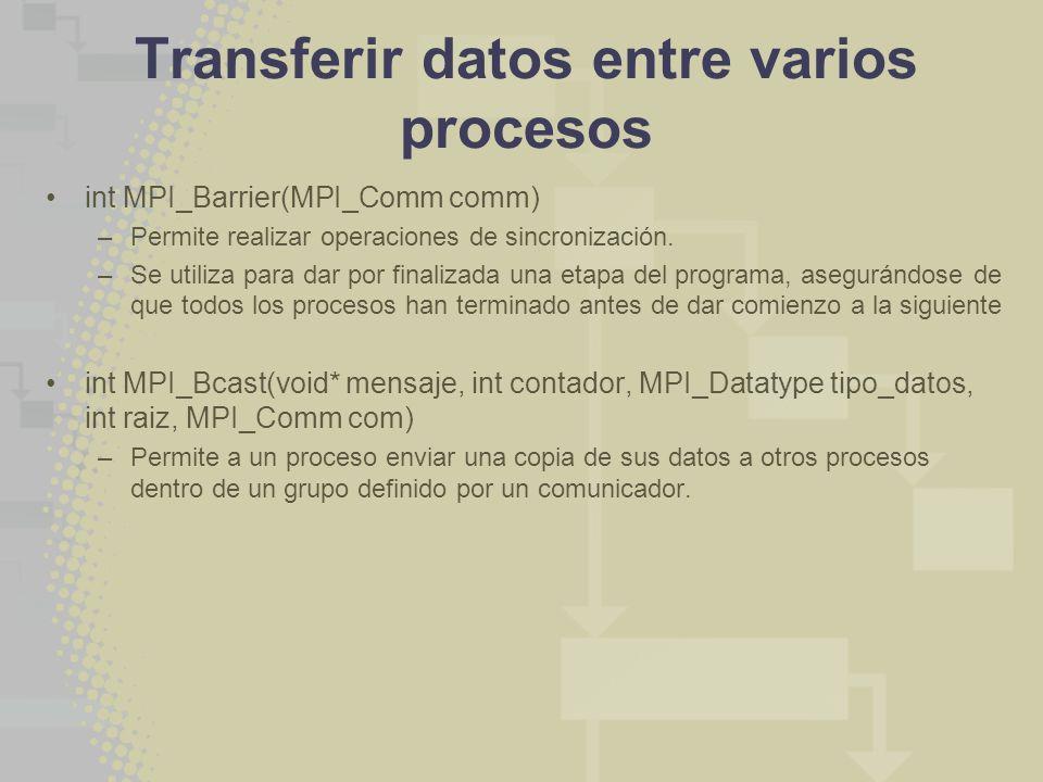 Transferir datos entre varios procesos
