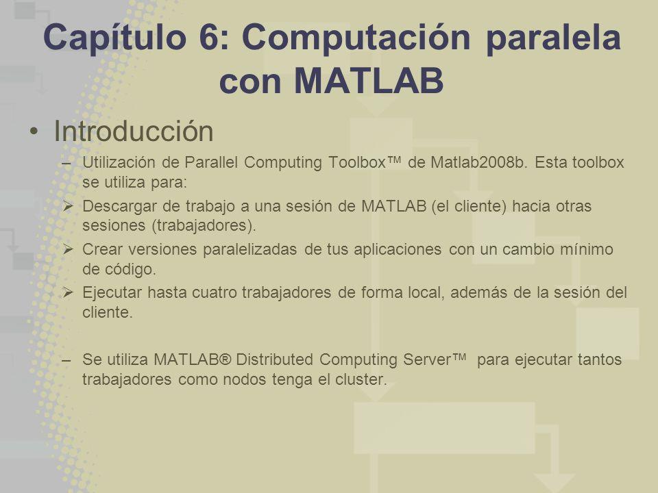 Capítulo 6: Computación paralela con MATLAB