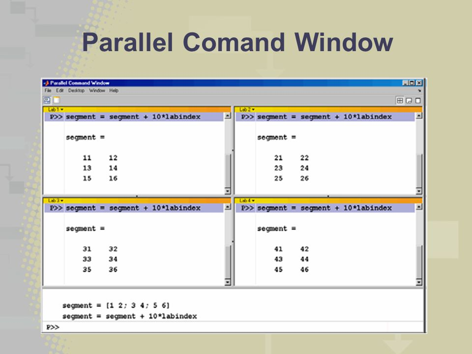 Parallel Comand Window