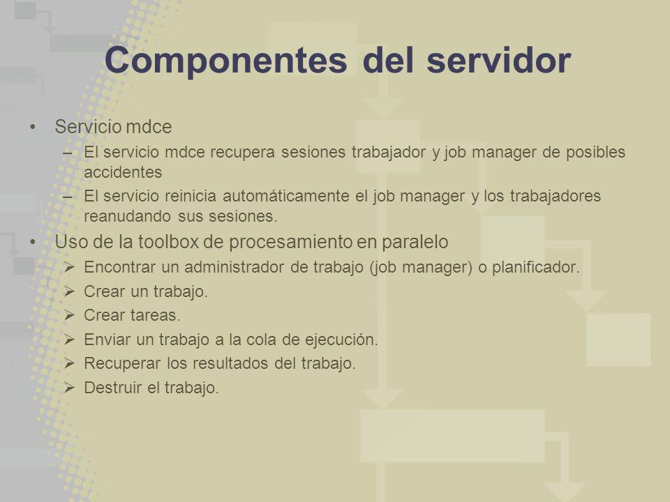 Componentes del servidor