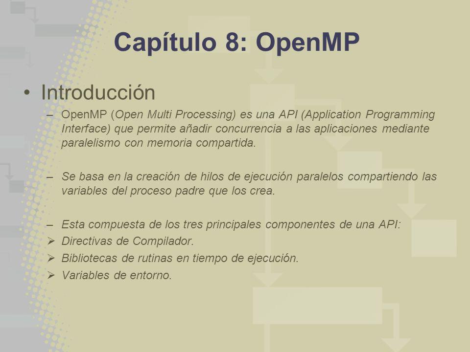 Capítulo 8: OpenMP Introducción