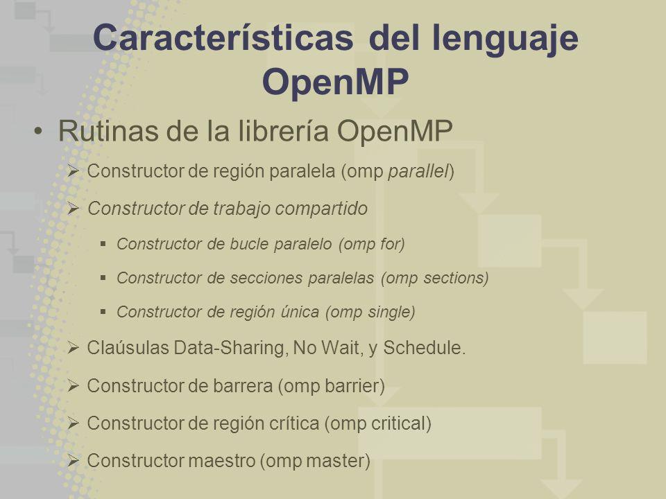 Características del lenguaje OpenMP
