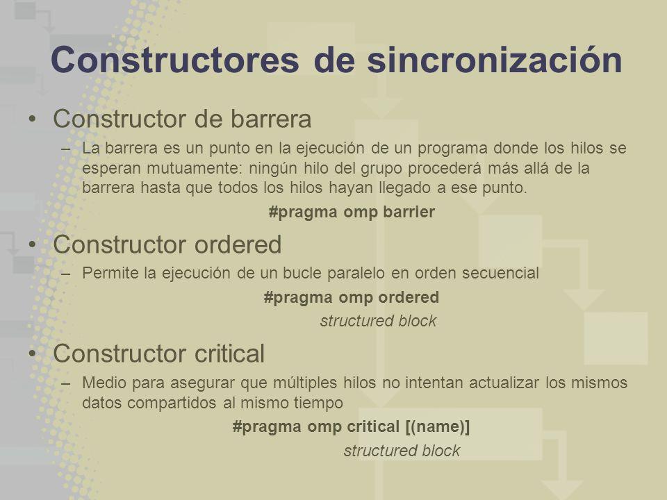 Constructores de sincronización