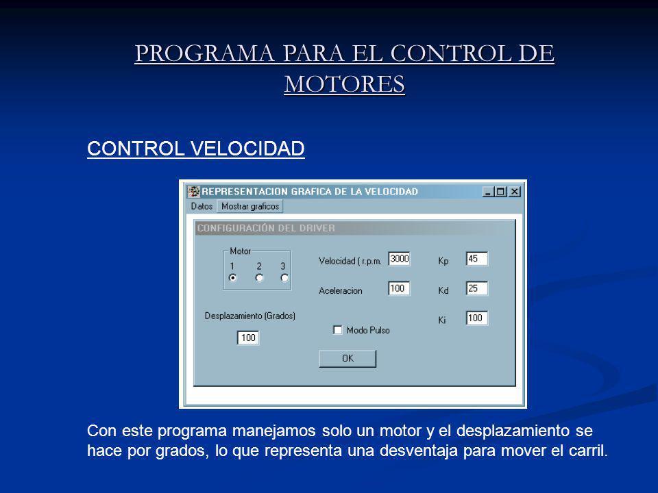 PROGRAMA PARA EL CONTROL DE MOTORES