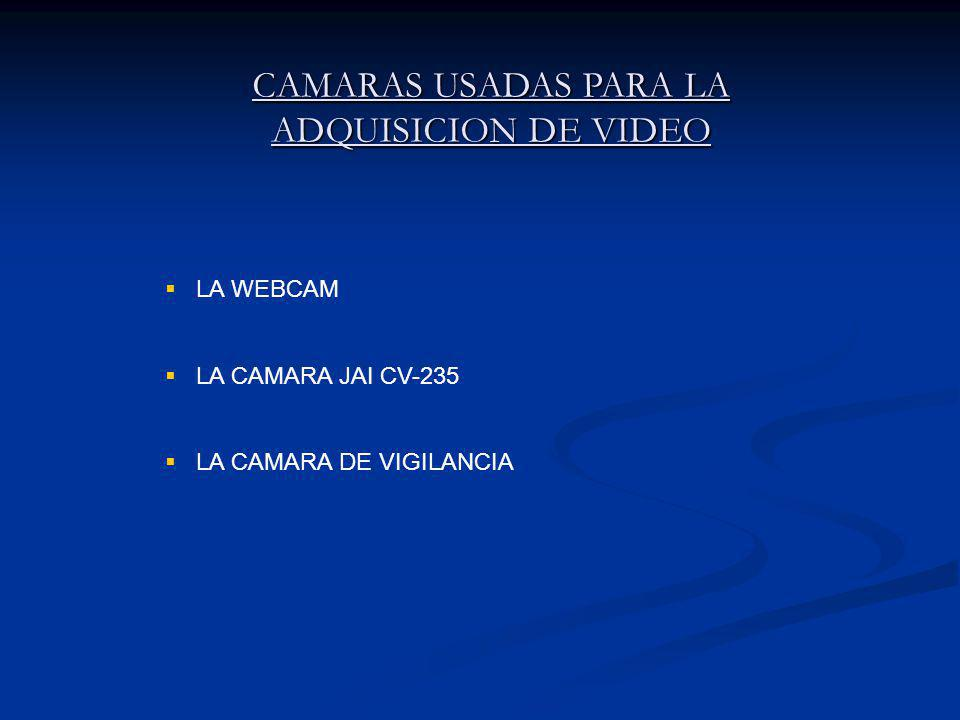 CAMARAS USADAS PARA LA ADQUISICION DE VIDEO