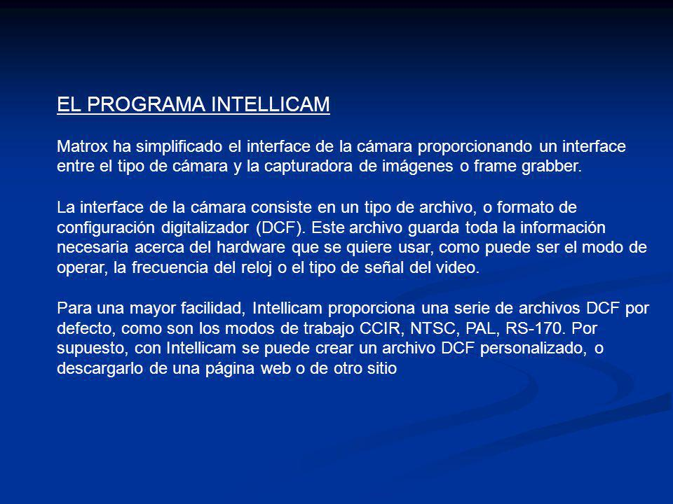 EL PROGRAMA INTELLICAM