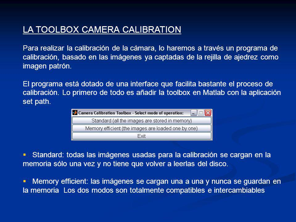 LA TOOLBOX CAMERA CALIBRATION