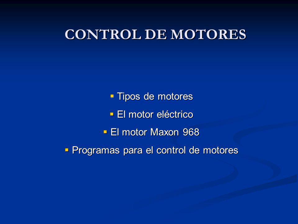 Programas para el control de motores