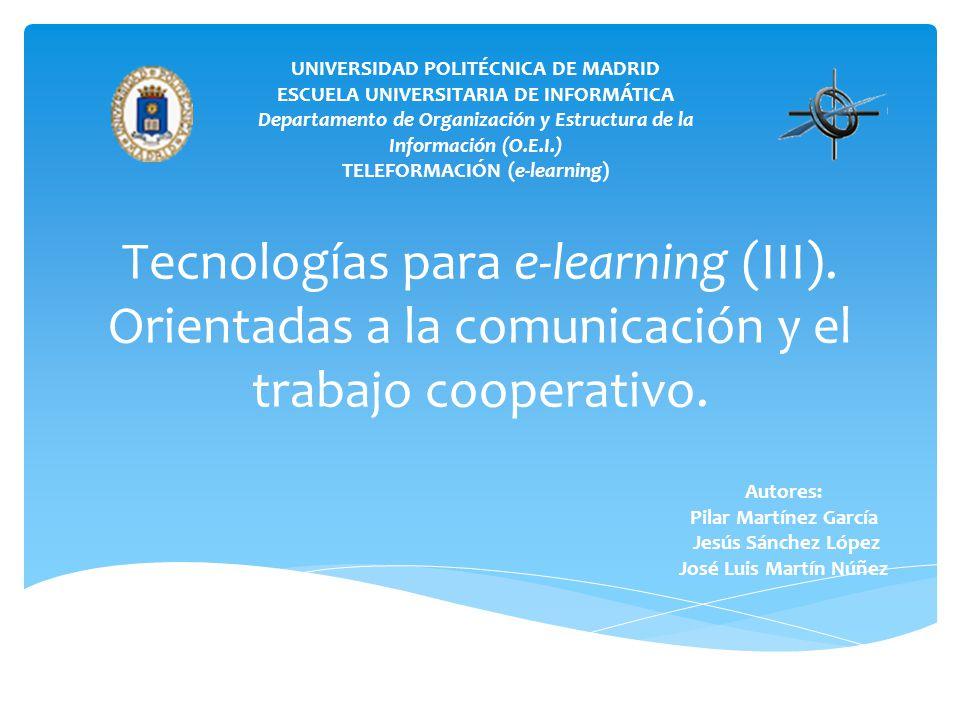 Tecnologías para e-learning (III)