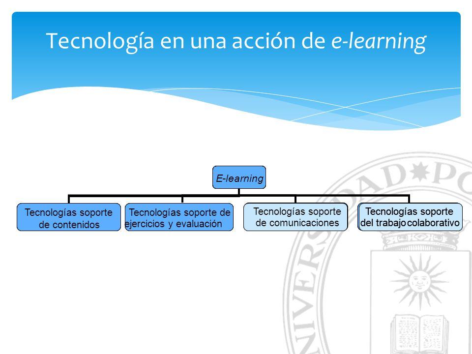 Tecnología en una acción de e-learning