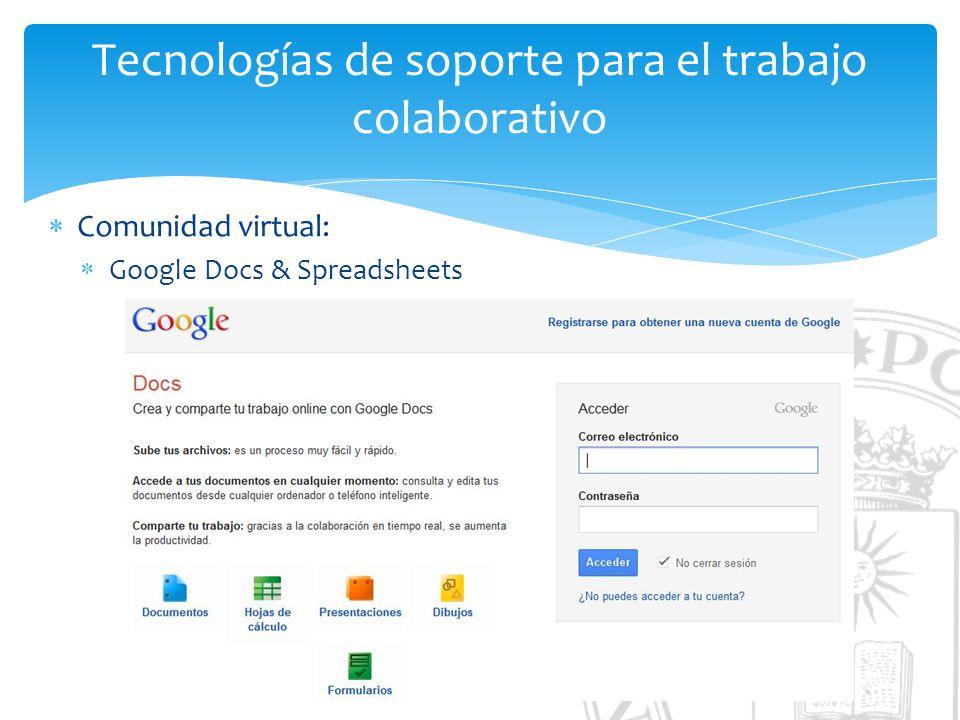 Tecnologías de soporte para el trabajo colaborativo