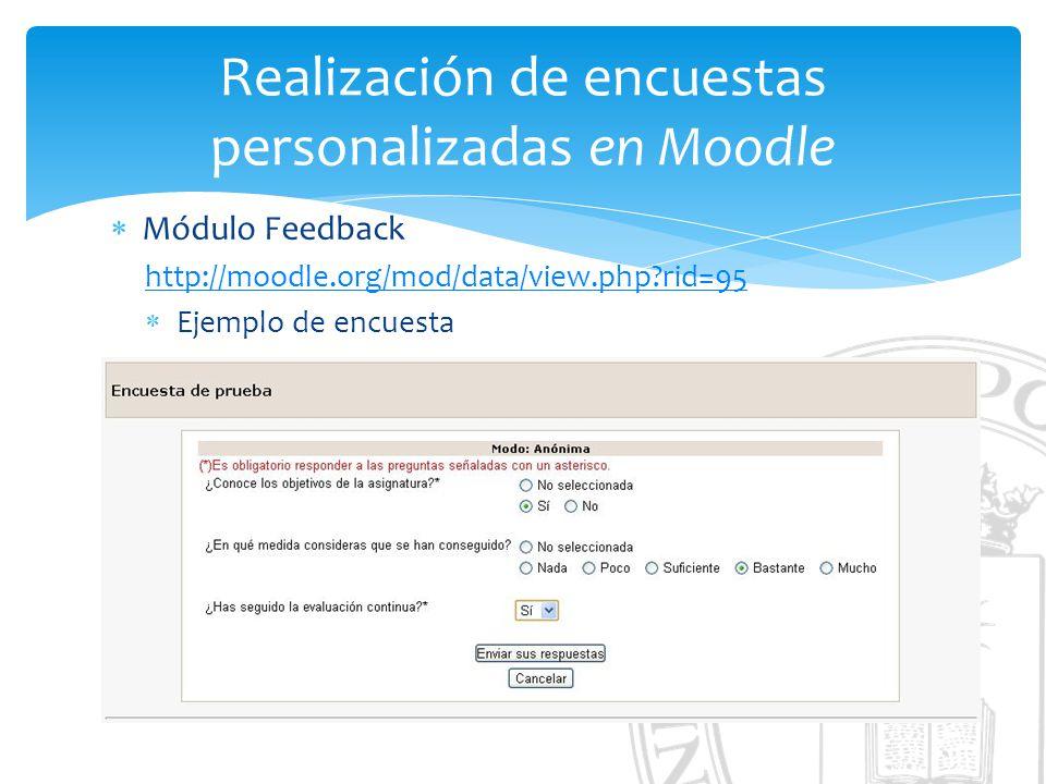 Realización de encuestas personalizadas en Moodle