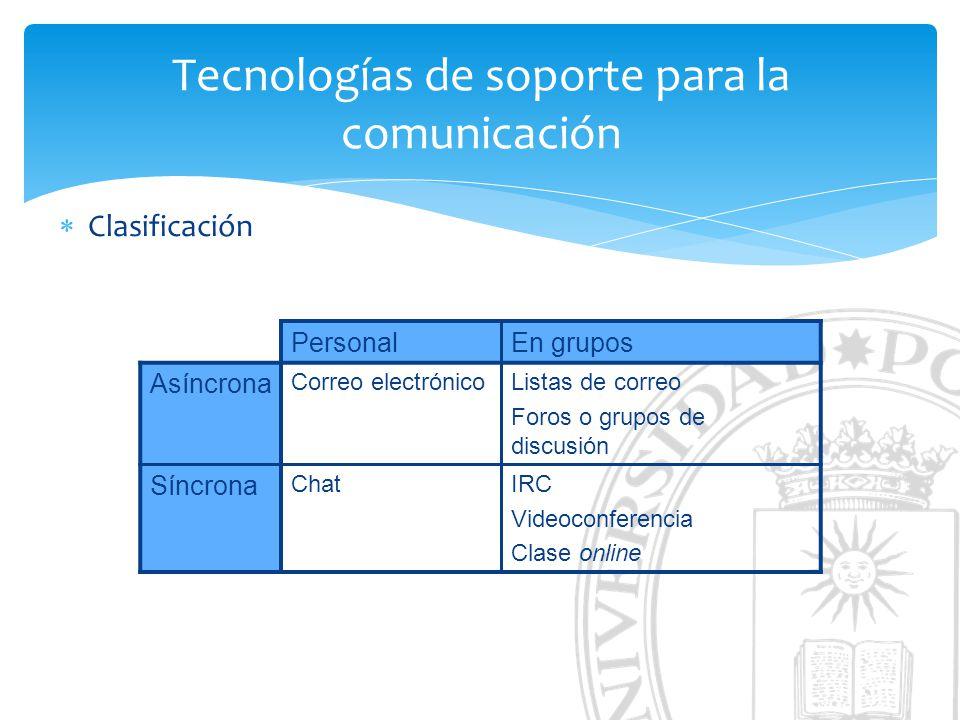 Tecnologías de soporte para la comunicación