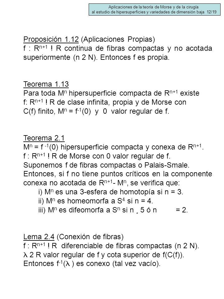 Proposición 1.12 (Aplicaciones Propias)