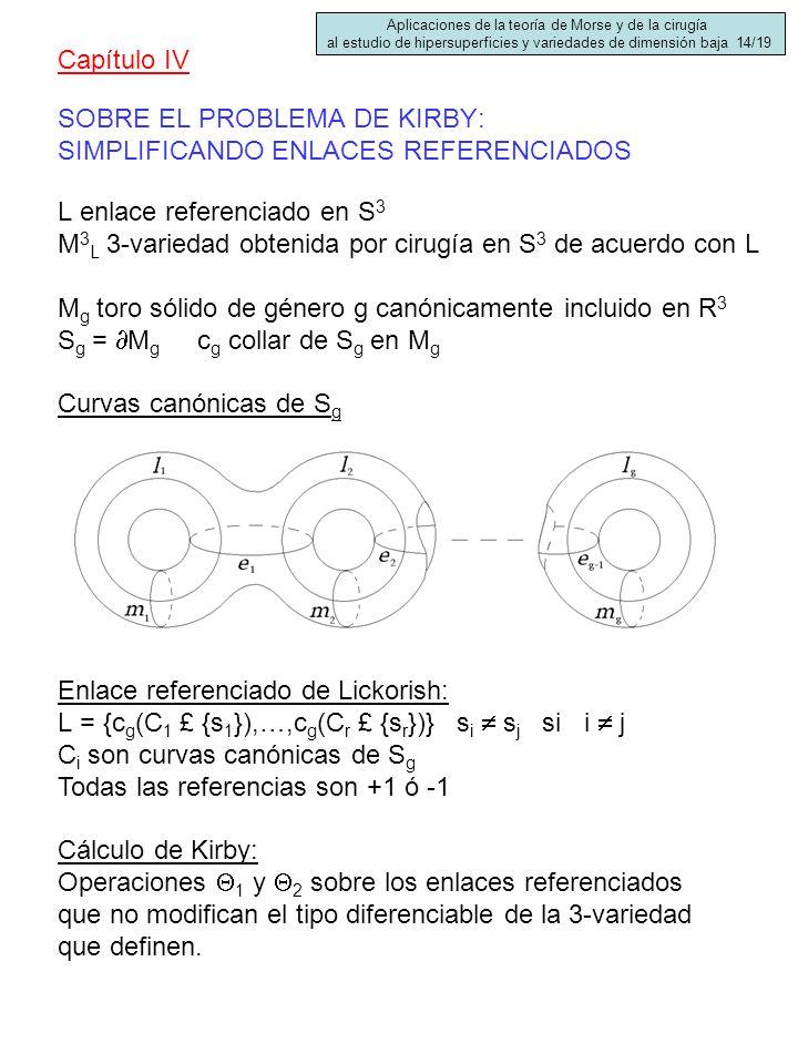 SOBRE EL PROBLEMA DE KIRBY: SIMPLIFICANDO ENLACES REFERENCIADOS