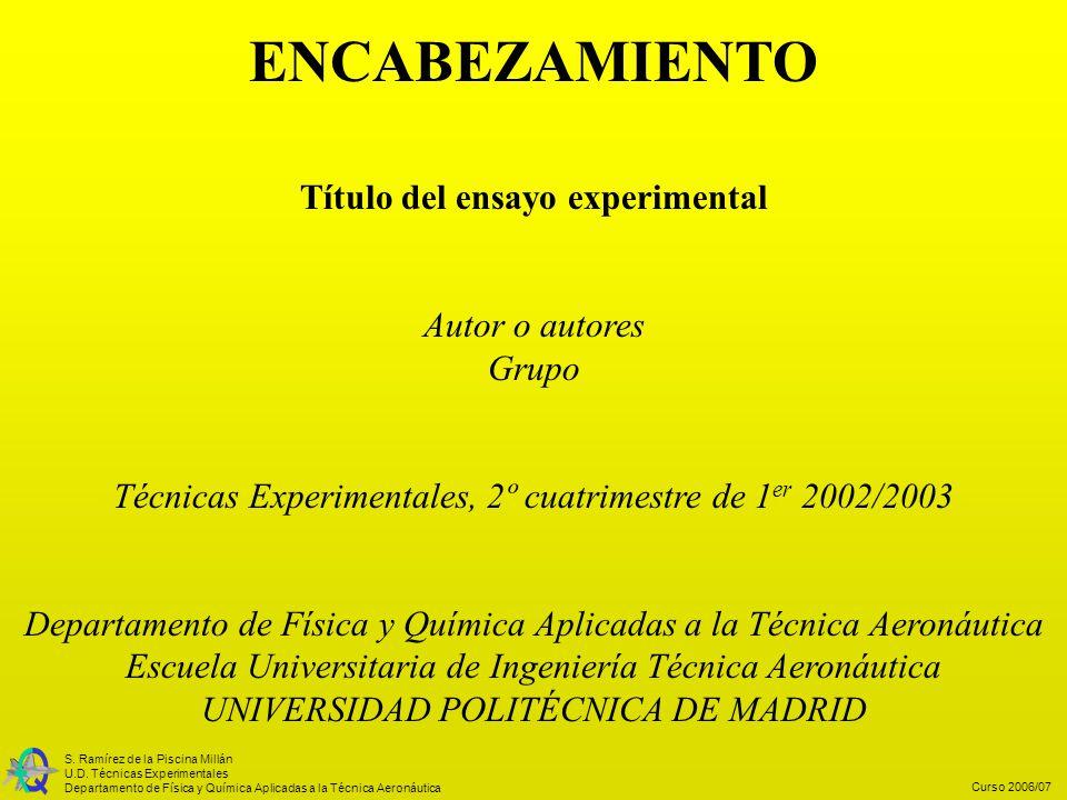 Título del ensayo experimental