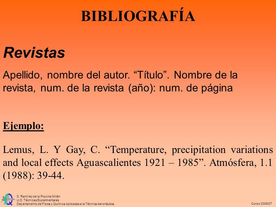 BIBLIOGRAFÍA Revistas