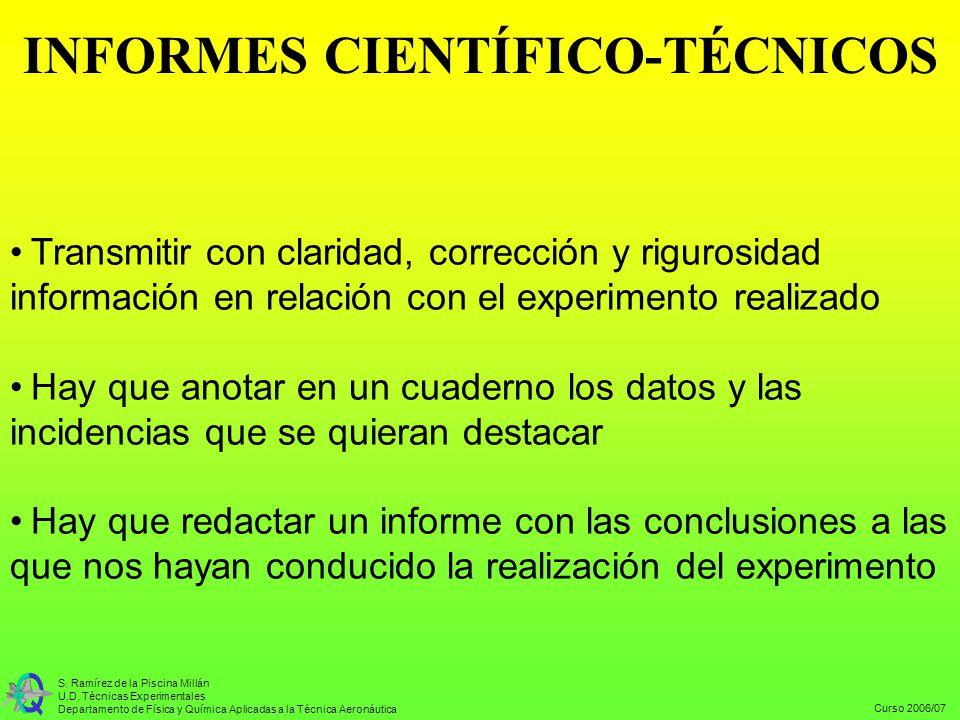 INFORMES CIENTÍFICO-TÉCNICOS
