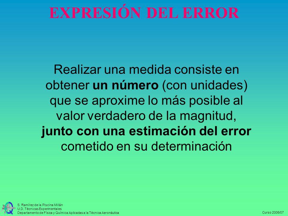 EXPRESIÓN DEL ERROR