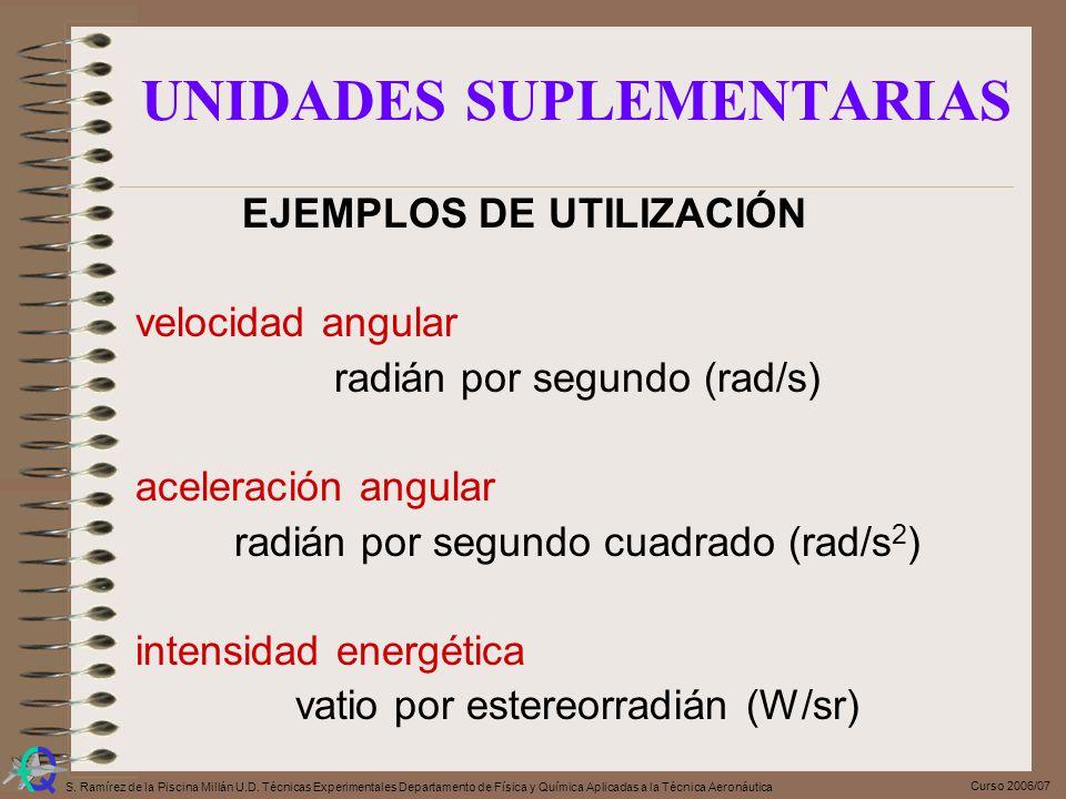 UNIDADES SUPLEMENTARIAS