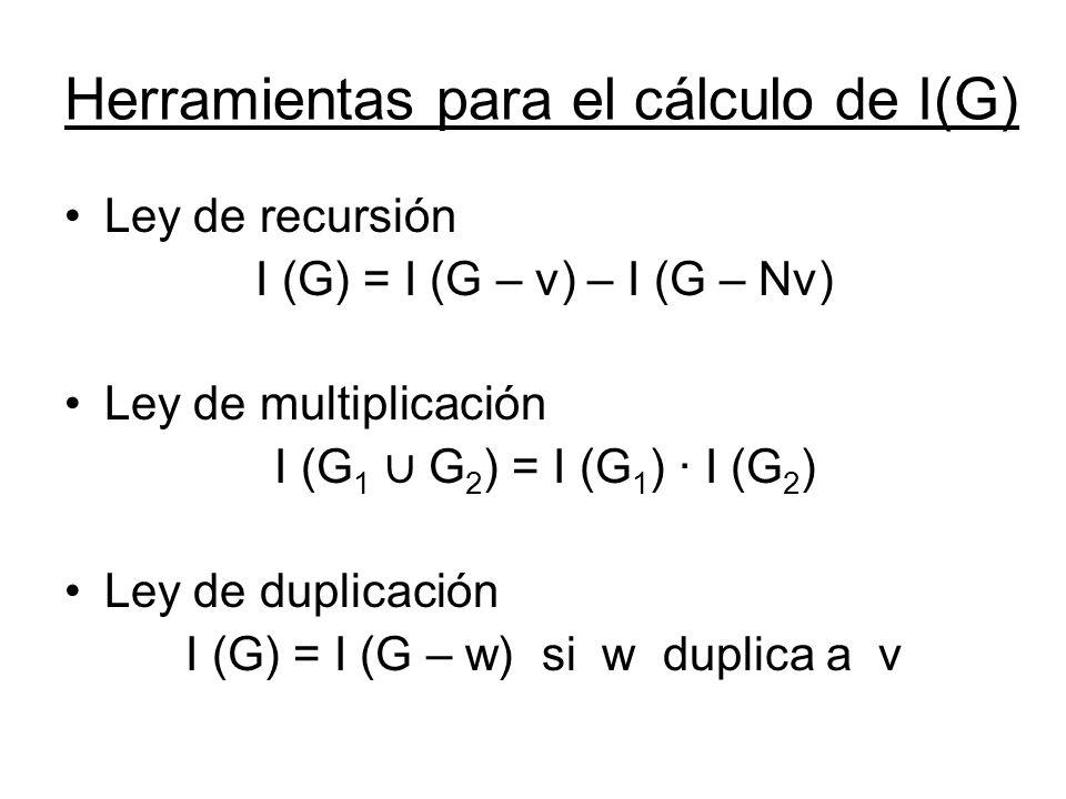 Herramientas para el cálculo de I(G)