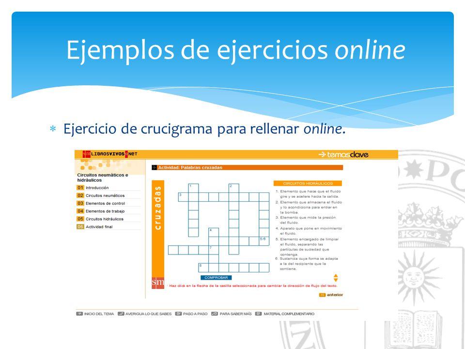 Ejemplos de ejercicios online