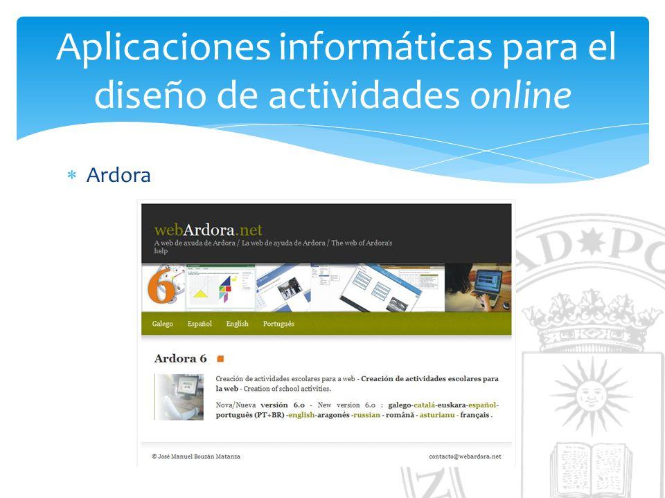 Aplicaciones informáticas para el diseño de actividades online